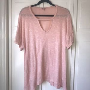 Juicy Couture Pink Short Sleeve Top, size XL